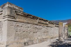 Ruins in Mitla , Mexico. Ruins in Mitla near Oaxaca city. The most important of the Zapotec culture centers in Mexico Stock Image