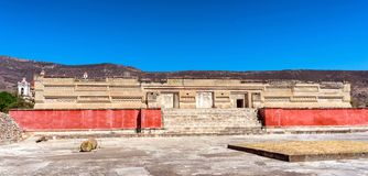 Ruins in Mitla near Oaxaca city. Mexico. Ruins in Mitla near Oaxaca city. The most important of the Zapotec culture centers in Mexico Royalty Free Stock Images