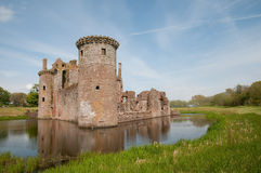 Ruins on the moat Stock Photos