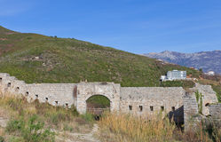 Ruins of Mogren Fort (1860) near Budva Stock Photo
