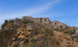 Ruins of Mogren Fort (1860) near Budva Stock Photography
