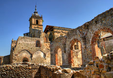 Ruins of Monastery of Carracedo on Bierzo Royalty Free Stock Photos