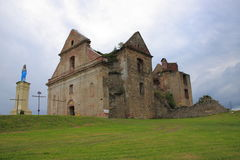 The ruins of the monastery of the Discalced Carmelite Fathers in Zagórze near Sanok (Poland, Podkarpackie Province) Royalty Free Stock Image