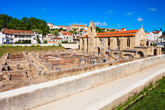 The ruins of the Monastery of Santa Clara Stock Images