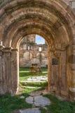 Ruins of the monastery of Santa María de Moreruela was a monastery belonging to the Cistercian order Zamora, Spain. Ruins of the monastery of Santa María royalty free stock photography