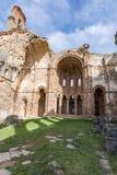 Ruins of the monastery of Santa María de Moreruela was a monastery belonging to the Cistercian order Zamora, Spain. Ruins of the monastery of Santa María royalty free stock photos
