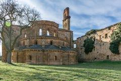 Ruins of the monastery of Santa María de Moreruela was a monastery belonging to the Cistercian order Zamora, Spain. Ruins of the monastery of Santa María stock photography