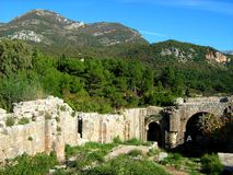 The ruins of the monestery of the Virgin Ratac. Montenegro Bar Ratac ruins monestery Stock Images
