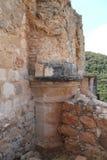 Ruins of Monfort Castle. Crusader castle in western Galilee, Israel Stock Image