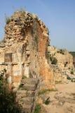 Ruins of Monfort castle, Israel. Ruins of Monfort castle, crusader castle in western Galilee, Israel Stock Image