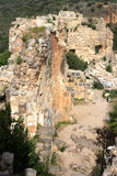 Ruins of Monfort castle, Israel Stock Photos