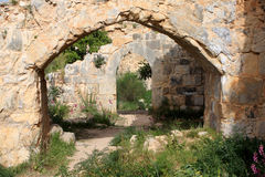 Ruins of Monfort castle, Israel Stock Photography