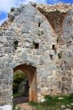 Ruins of Monfort castle, Israel. Ruins of Monfort castle, crusader castle in western Galilee, Israel Royalty Free Stock Photos