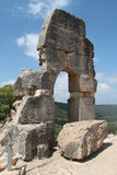 Ruins of Monfort Castle. Tower structure, crusader castle in western Galilee, Israel Stock Image