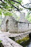 Monk`s fishing house at Cong Abbey, County Mayo, Ireland. Ruins of the Monk Fish House located in Cong, Ireland Stock Image