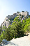 Ruins of Monolithos castle Royalty Free Stock Images