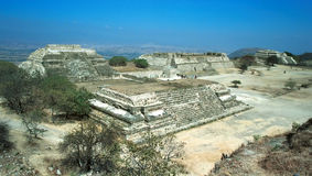 Ruins of Monte Alban. Stock Photo