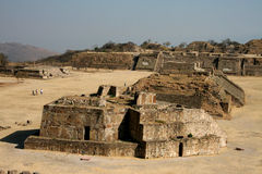 Ruins of Monte Alban stock image