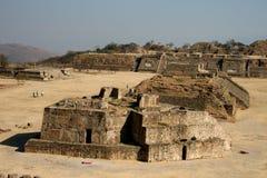Ruins of Monte Alban. Ruins of pre-hispanic Monte Alban, near Oaxaca in Mexico Stock Image