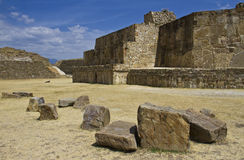 The ruins of Monte Alban, Mexico Stock Photos