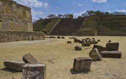 The ruins of Monte Alban, Mexico Stock Image