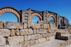 Moorish arches, Medina Azahara, Spain. Stock Image