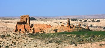 Ruins in Morocco Royalty Free Stock Images
