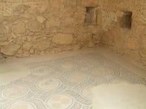 Ruins, mosaic floor, King Herod's palace, Masada, Israel Royalty Free Stock Images