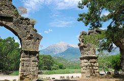 Ruins   and  mountain Royalty Free Stock Photography