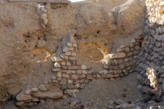 Ruins of mountain oasis Chebika, Tunisia Royalty Free Stock Photo