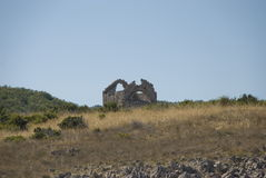 Ruins in mountains of Croatia Stock Image