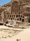Ruins and mountains of Petra Stock Photos