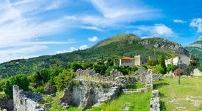 The ruins among the mountains Royalty Free Stock Images