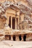 Petra Jordan. Ruins in moutain Petra Jordan Royalty Free Stock Image