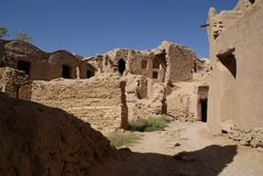 Ruins of mud city near Yazd, Iran Stock Photo
