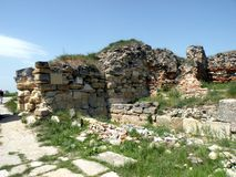 Ruins in the museum of Histria 7. Museum of Histria. Ancient Greek colony on the Black Sea. Antiques. Has existed for more than 2500 years stock photos