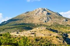 Ruins of Mycenae Citadel, Greece. royalty free stock photos