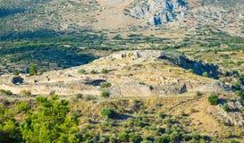 Ruins of Mycenae Citadel, Greece. stock photography