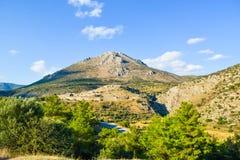 Ruins of Mycenae Citadel, Greece. stock images