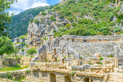 The ruins of Myra. Turkey rich on ancient ruins, Myra complex is one of the biggest and the most beautiful of them Royalty Free Stock Photos