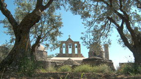Ruins in Naxos stock video