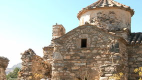 Ruins in Naxos stock video footage