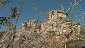 Ruins in Naxos stock footage