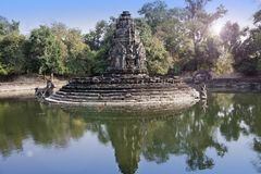 Ruins of Neak Pean12th Century - religious architecture landmarks buildings complex near Siem Reap, Cambodia Royalty Free Stock Photo