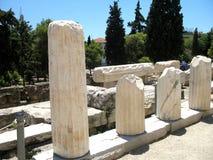 Ruins near Acropolis of Athens, Greece Stock Image
