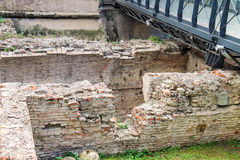 Ruins near  the ancient gates Galliera in Bologna Royalty Free Stock Image