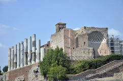 Ruins near Colosseum Royalty Free Stock Photo