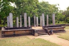Ruins near Mahasena's palace. Ruins near entrance to the Mahasena's palace in Anuradhapura, Sri Lanka Royalty Free Stock Images