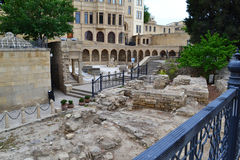 Ruins. Near the Maiden Tower in Baku Royalty Free Stock Photo