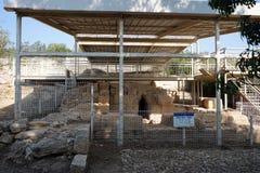 Ruins. Near sprinf Ein Zur in Israel stock images